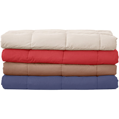 PUREDOWN Goose Down Packable Sport Blanket, Down-Proof Peach Skin Fabric