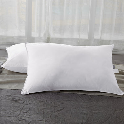 PUREDOWN 2 Pack Premium Soft Down Pillows, 600 Fill Power, 100% Cotton Fabric Cover