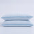 PUREDOWN White Goose Down Feather Pillow with Ice Silk Pillowcase for Summer, Set of 2