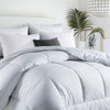 PUREDOWN - Down Alternative Comforter, Year Round Duvet Insert, 400 TC, White - Puredown
