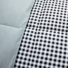 All Season Black White Plaid Printed Reversible Down Alternative Comforter Set