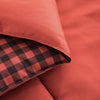 All Season Black Red Plaid Printed Reversible Down Alternative Comforter Set