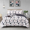 All Season Plumeria Pattern Printed Reversible Down Alternative Comforter Set