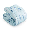 All Season Fish Pattern Printed Reversible Down Alternative Comforter Set