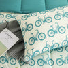 All Season Bicycle Pattern Printed Reversible Down Alternative Comforter Set