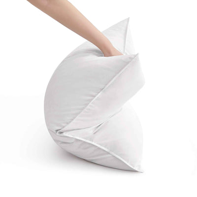 PUREDOWN 2 Pack White Goose Feather Pillows for Side and Back Sleepers, 100% Cotton Cover