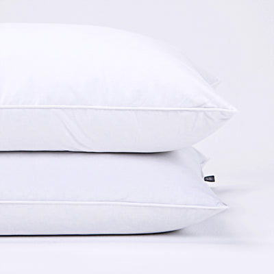 2 Pack Feather Pillows for Side and Back Sleepers, Pillow-in-a-pillow Design, 100% Cotton Fabric