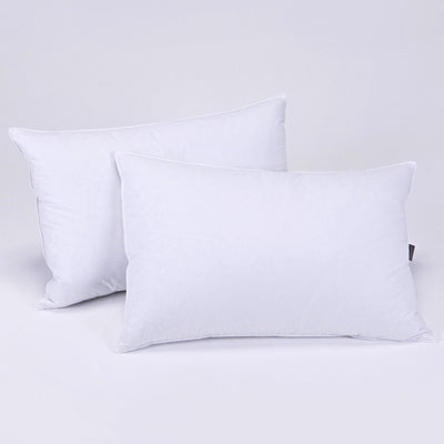 PUREDOWN - Feather and Down Pillow, Triple Chamber Design, 100% Cotton Fabric, Set of 2 - Puredown
