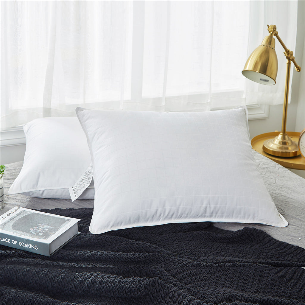 Handmade In USA 100/% Genuine EXTRA FIRM 2 Queen Feather Pillows