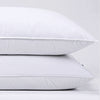PUREDOWN 30% Natural Goose Down Pillows with 100% Cotton Pillow Cover, Down Feather Pillow for Sleeping (Standard, Queen and King) Set of 2