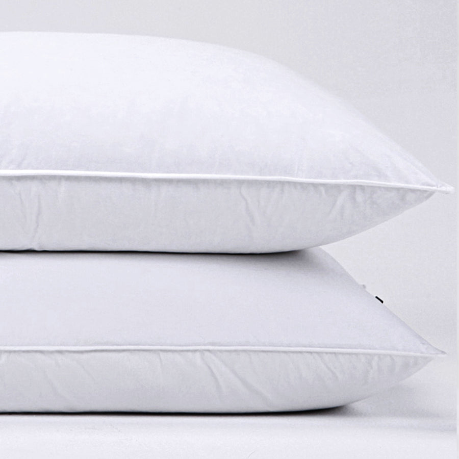 2 Pack 30% Natural Goose Down Pillows with 100% Cotton Pillow Cover, Down Feather Pillow for Sleeping