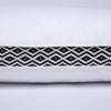 Puredown Black Diamond Lattice Firm Feather Pillows, Gusseted Bed Pillow with 100 % Cotton Cover, Set of 2