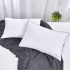 2 Pack Puredown Logo Embroidered White Goose Down Pillows, 100% Cotton Cover