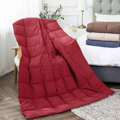 Packable Sport Blanket, Down Throw with Downproof Fabric