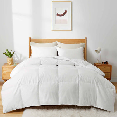 Puredown Heavyweight UltraFeather Comforter for Winter, 100% Cotton Cover, Machine Washable