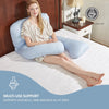 PUREDOWN U Shaped/C Shaped Pregnancy Pillow with Removable Zipper Cover