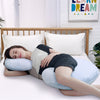 PUREDOWN C Shaped Body Pillow with Removable Cooling Ice Silk Cover