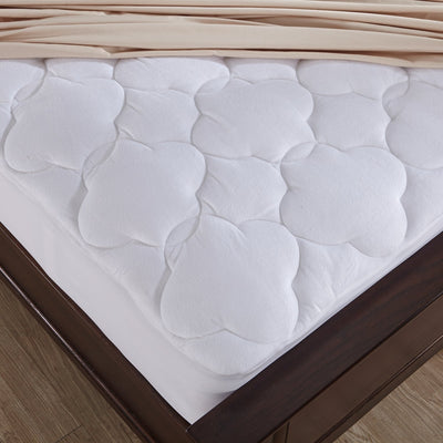 PUREDOWN - Down Alternative Mattress Pad Topper, Cloud Quilt Design, Microplush Fabric Top, White - Puredown
