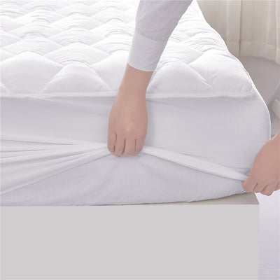 Four Leaf Clover Quilted Down Alternative Mattress Pad, Stretches up to 18 Inches Deep
