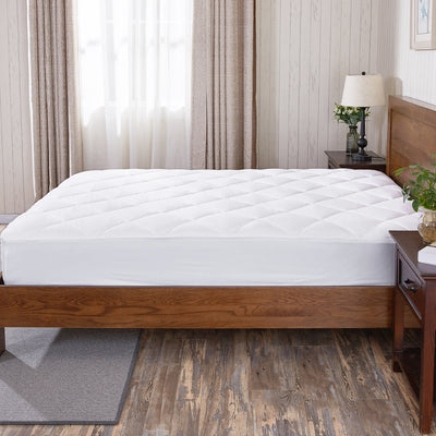 Hypoallergenic Down Alternative Mattress Pad 100% Cotton Top and Bottom