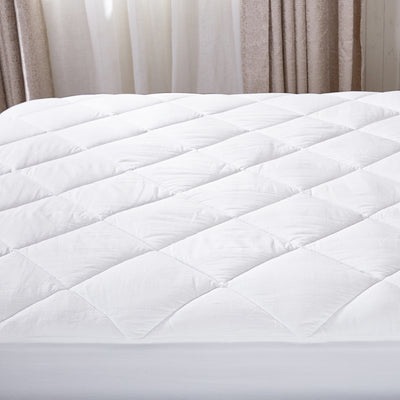 Full puredown Down Alternative Topper Fitted Quilted 100/% Cotton Top and Bottom Mattress Pad