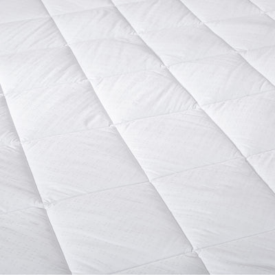 PUREDOWN Hypoallergenic Down Alternative Mattress Pad, Quilted Fitted, Stretch up to 18 Inches Deep, 100% Cotton Top and Bottom