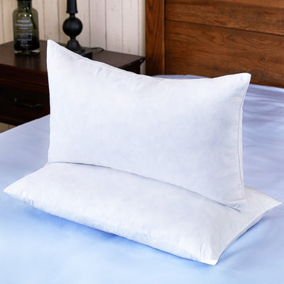 PUREDOWN 2 Pack Feather Pillows Square Bed Pillows