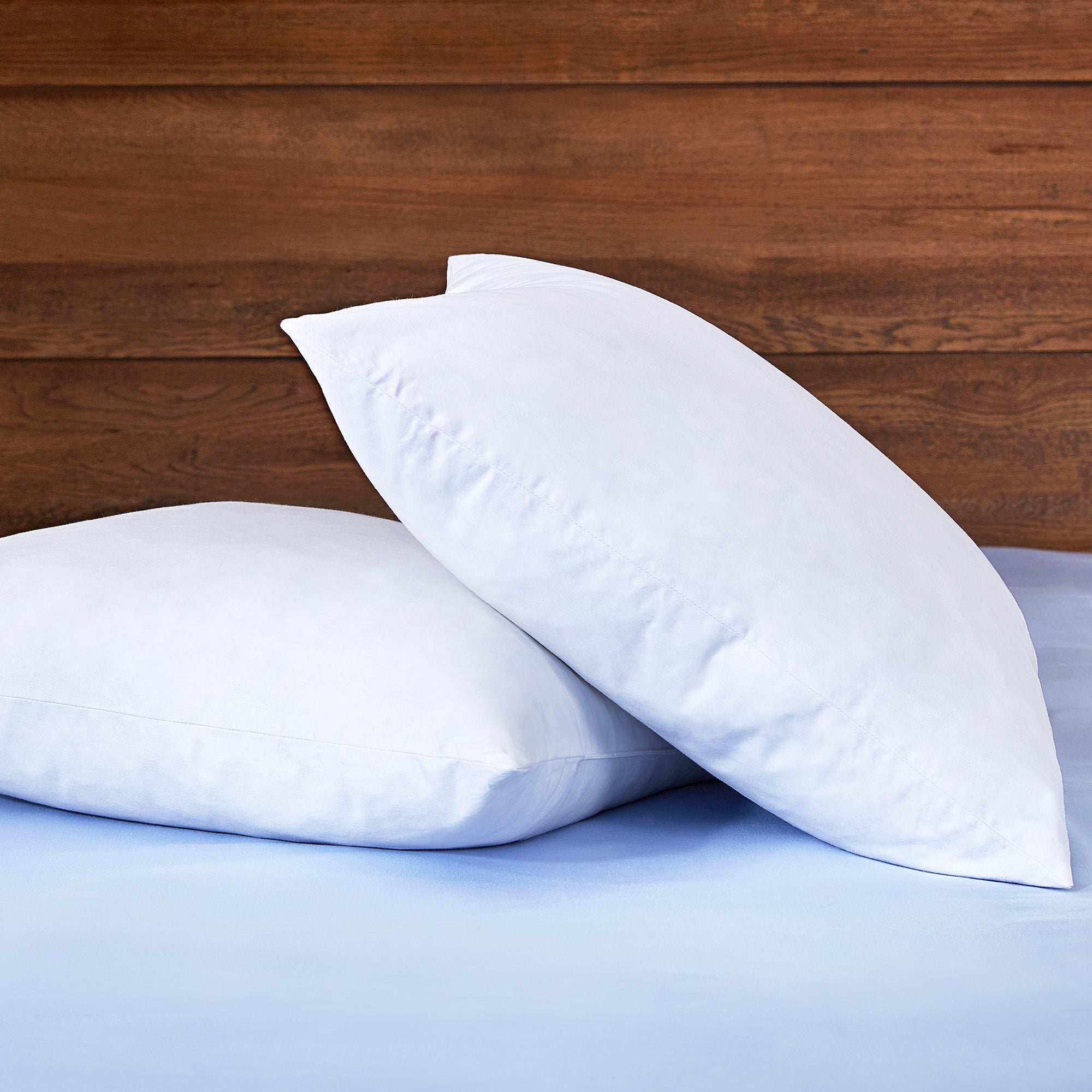 Puredown White Feather Pillow For Sleeping Square Bed