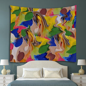 Abstract Paint Tapestry