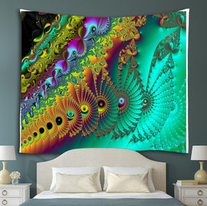 Psychedelic Waves Tapestry