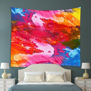 Neon Sunset Tapestry
