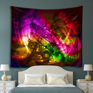 Rainbow Waves Tapestry