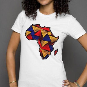 Africa Womens T-Shirt - White