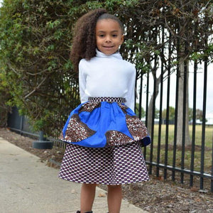 African print Little Girls Skirts