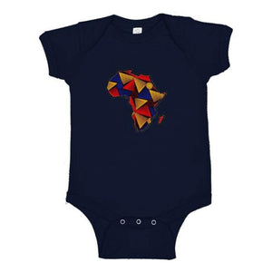 Africa Infant Jersey Onesie - Navy
