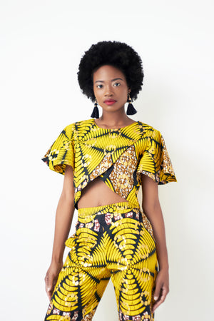 African crop top and pants