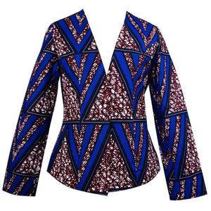 Sarah African Print Single Button Blazer