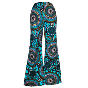 Layo African Print Wide Leg Pants - Teal