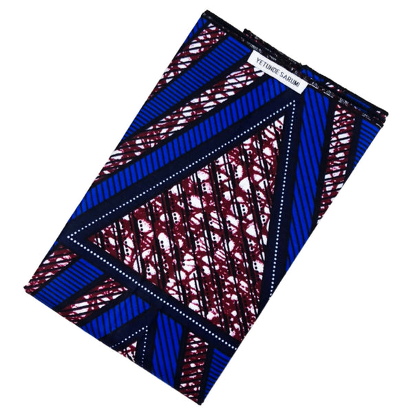 Blue African Print Headwrap