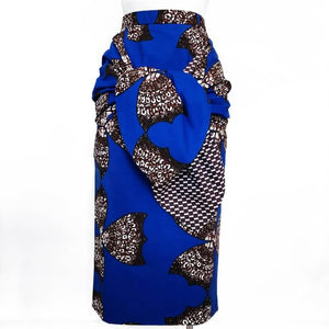 Taye Front-Tie African Print Skirt