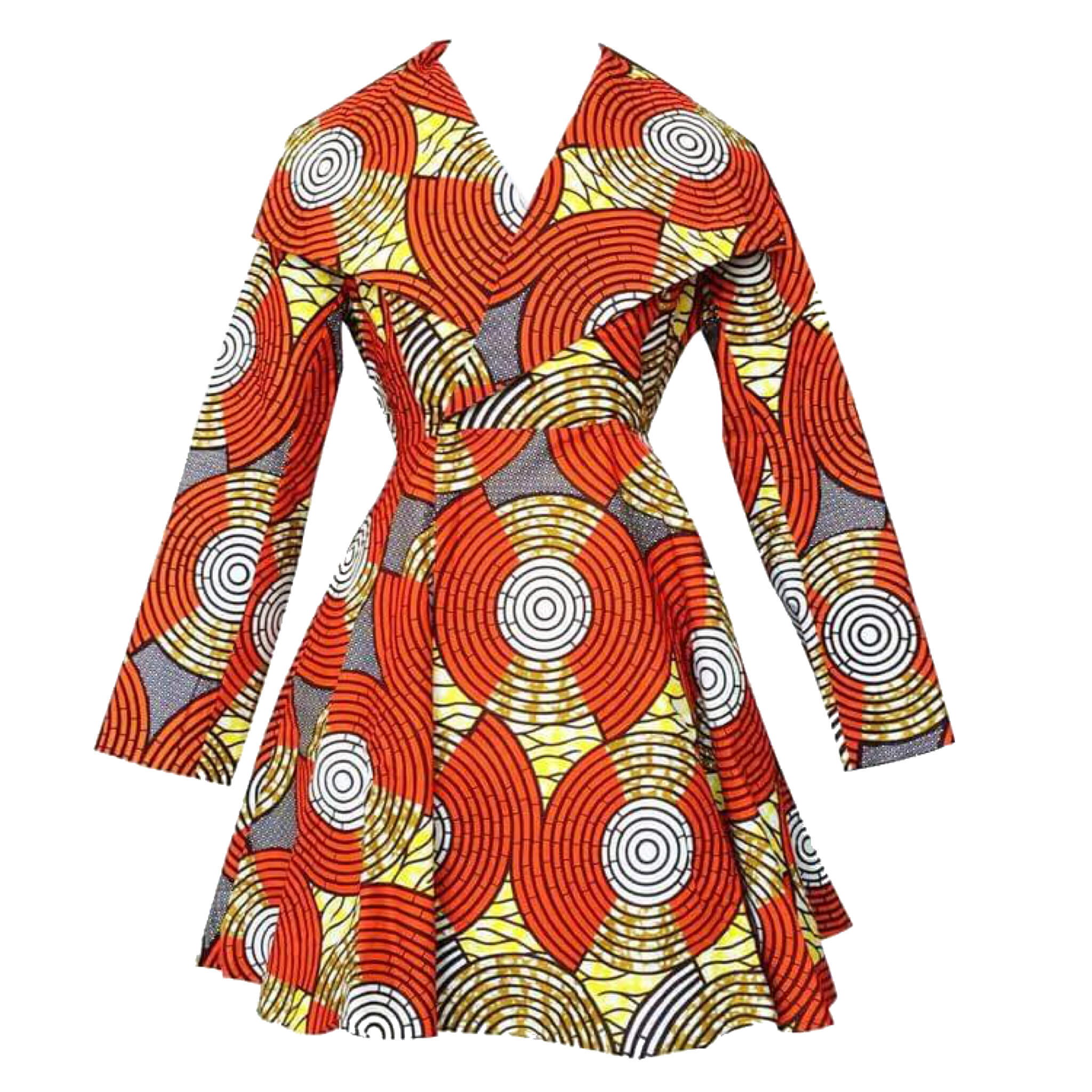 Resa African Print Dress/Coat