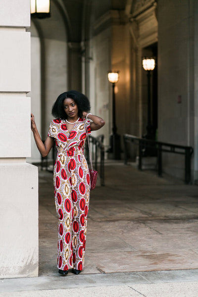 Jazzy African Print Jumpsuit