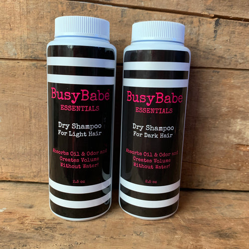 Dry Shampoo Shaker - Organic - Light or Dark hair