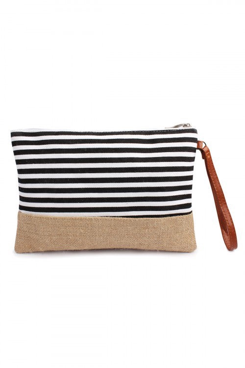 Deluxe BusyBabe Striped Cosmetic Pouch