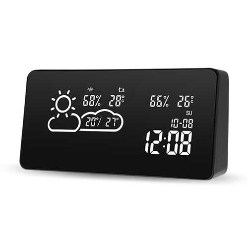 DIGOO DG-C12 Smart WIFI LED Negative Screen Weather Station Smart Home Automated WIFI Setting Thermometer Hygrometer