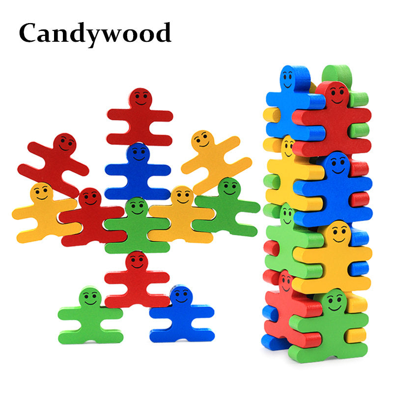 Candywood 16pcs/set of Colorful Balancing Blocks