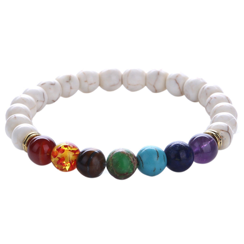 Unisex Mala Bracelets with 7 Chakra Colours