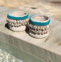 Macrame And Shell Candle Holder