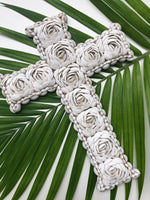 Natural Shell Cross Wall Art