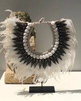 Tribal Feather & Shell Necklace B